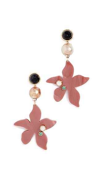 Lizzie Fortunato Portugal Poppy Earrings In Pink