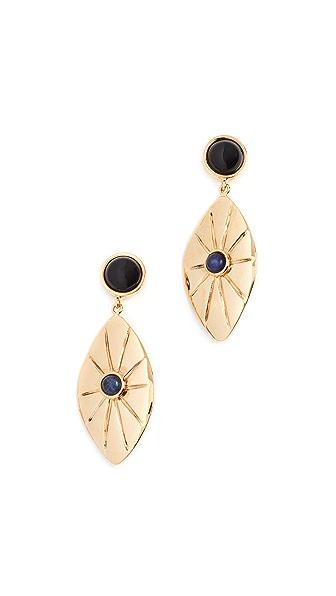 Lizzie Fortunato Capri Earrings In Brass