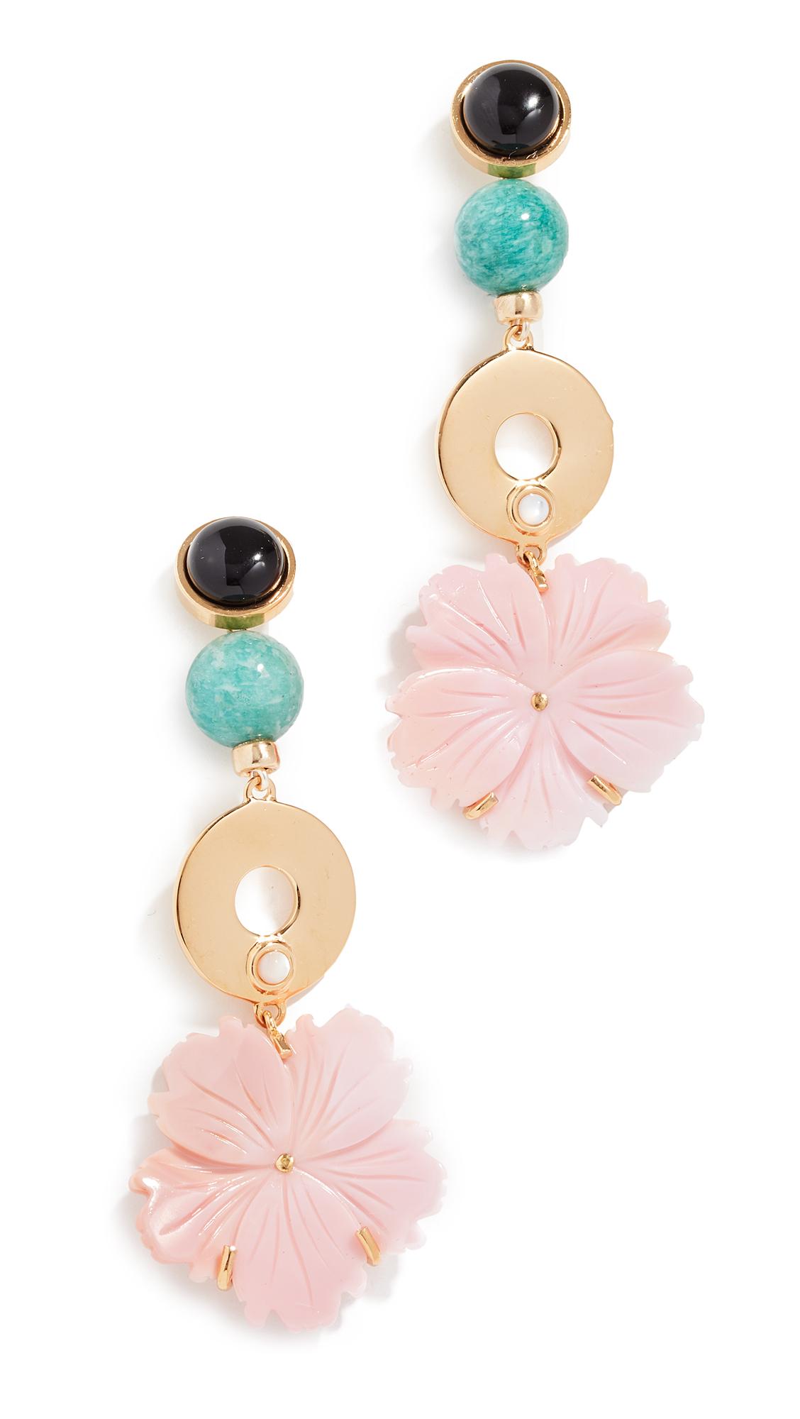 Lizzie Fortunato Sardinia Earrings In Pink/Multi