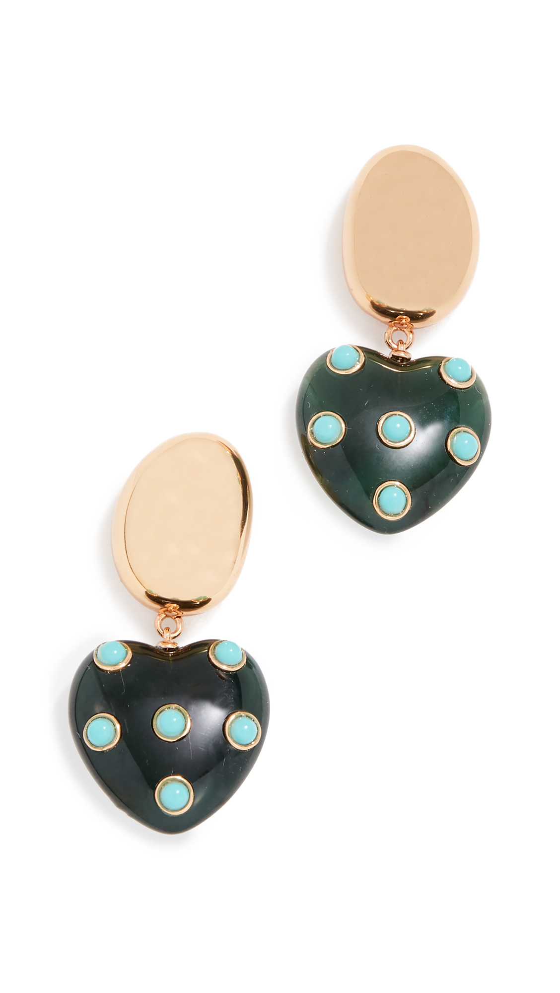 LIZZIE FORTUNATO AMORE EARRINGS