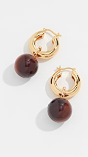 Lizzie Fortunato Tiger Eye Hoop Earrings