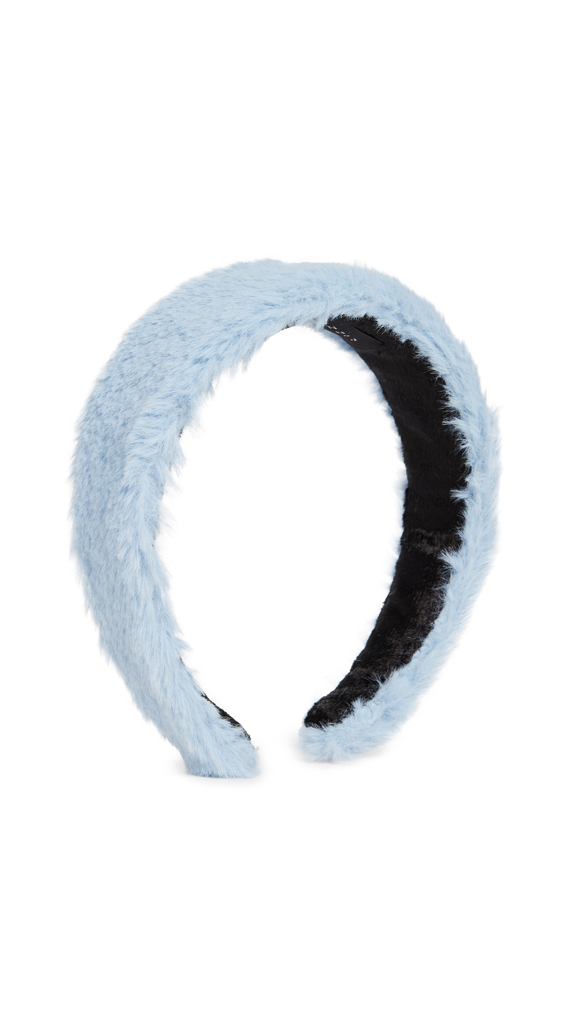 Lizzie Fortunato Fur Headband In Blue