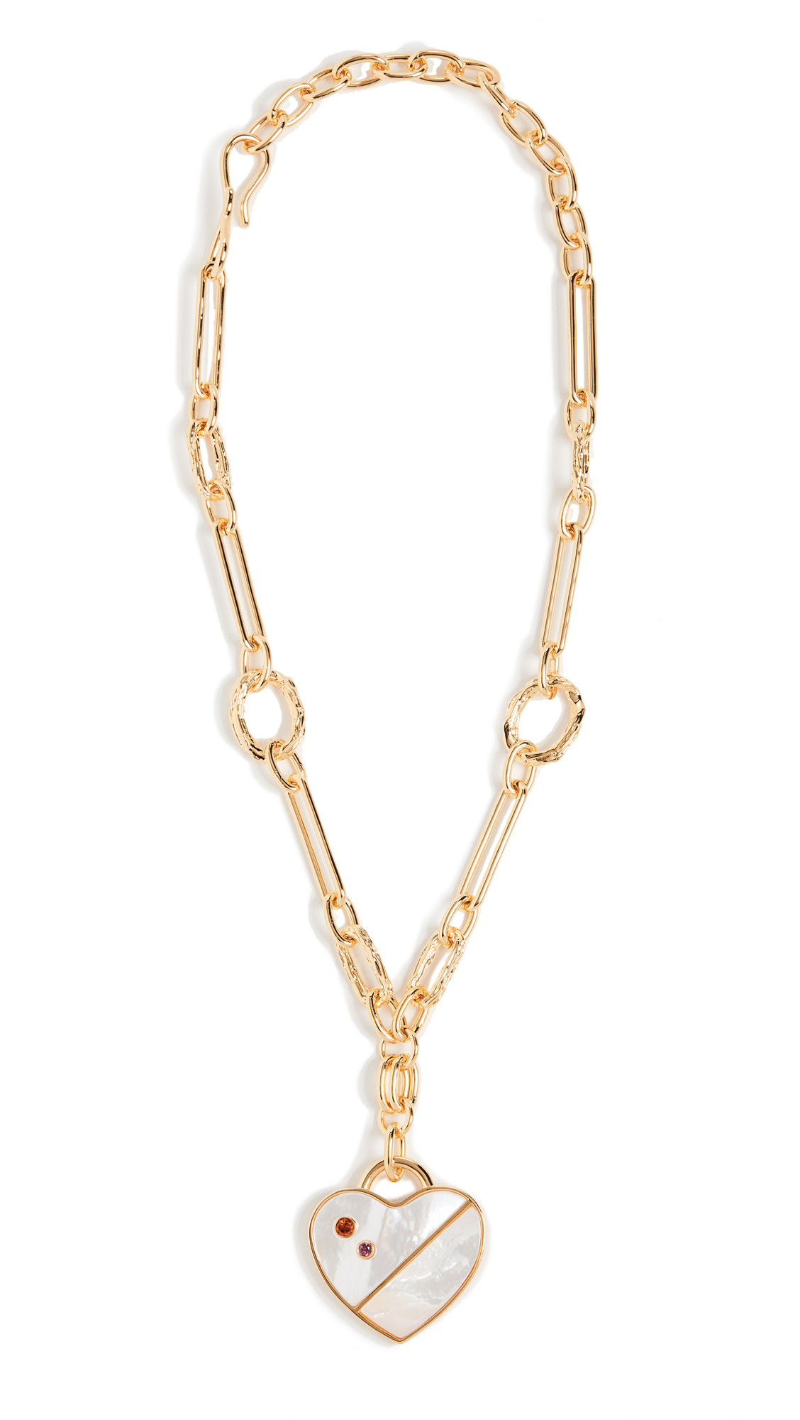 Lizzie Fortunato Venice Heart Necklace In Gold/Mother Of Pearl