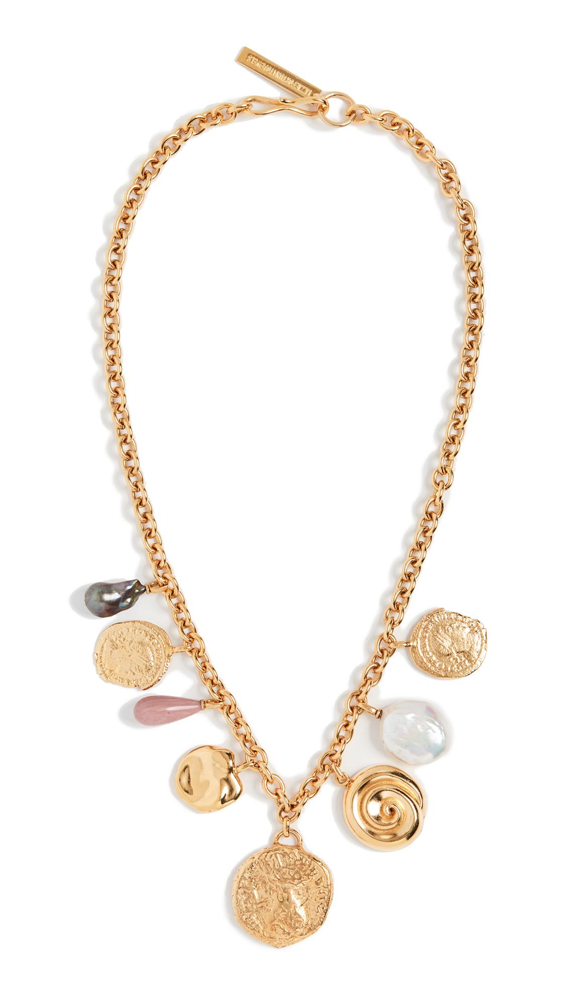 Lizzie Fortunato Victoria Charm Necklace In Gold