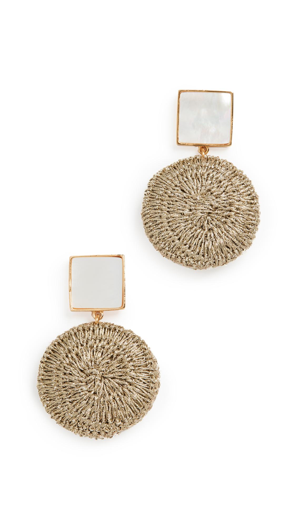 Lizzie Fortunato Mala Earrings In Gold