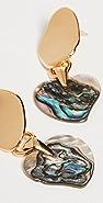 Lizzie Fortunato Abalone Heart Earrings