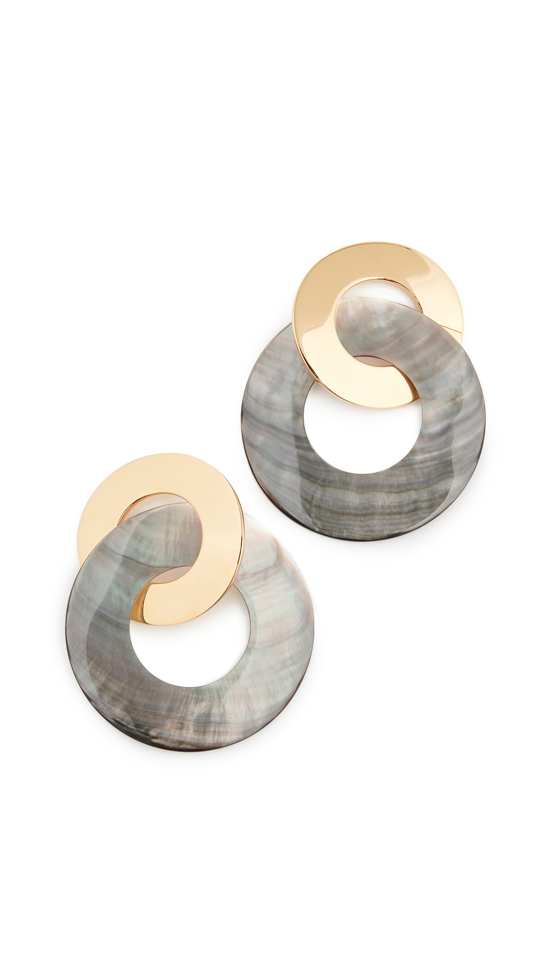 Lizzie Fortunato Solstice Earrings In Black/Mother Of Pearl