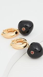 Lizzie Fortunato Black Cherry Hoop Earrings