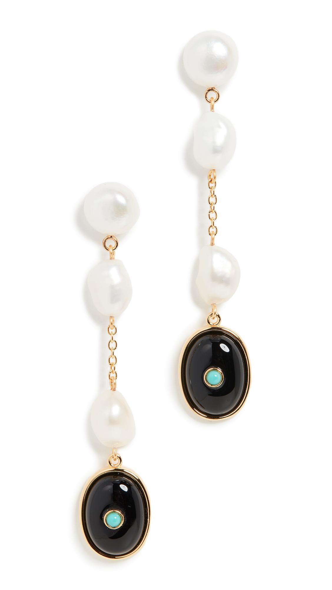 Lizzie Fortunato Bon Vivant Earrings In Silver/pearl