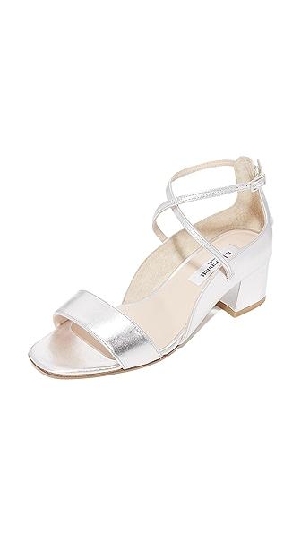 L.K. Bennett Dina City Heels - Silver