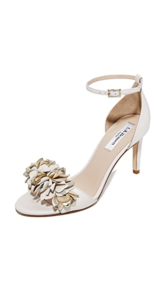 L.K. Bennett Claudie Sandals - Cream/Gold