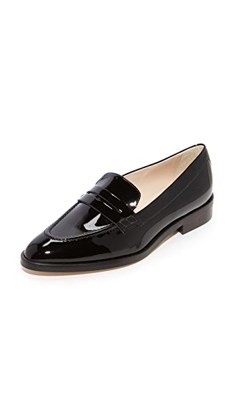 L.K. Bennett Iona Penny Loafers In Black