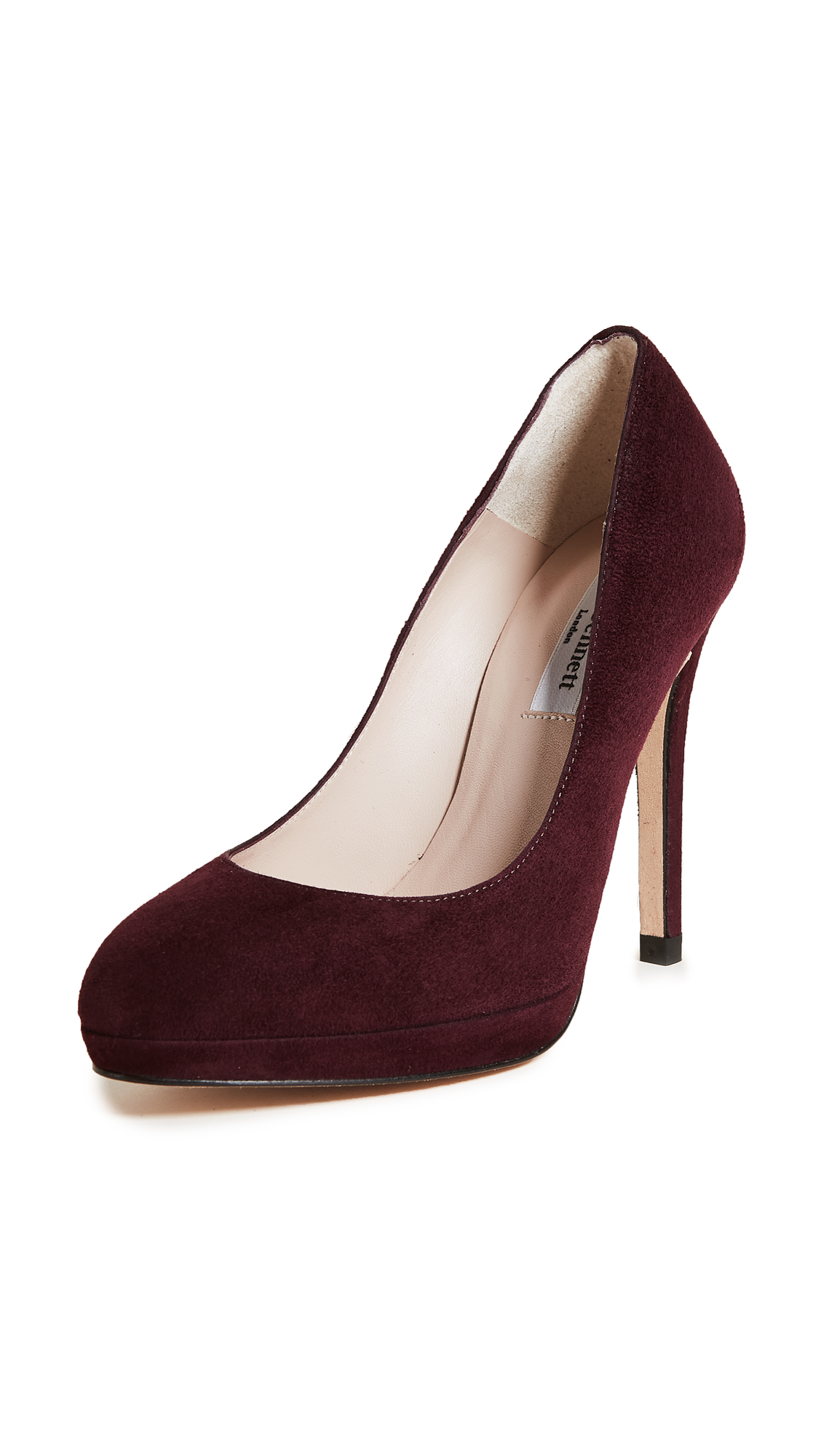 L.K. Bennett New Sledge Pumps - Oxblood