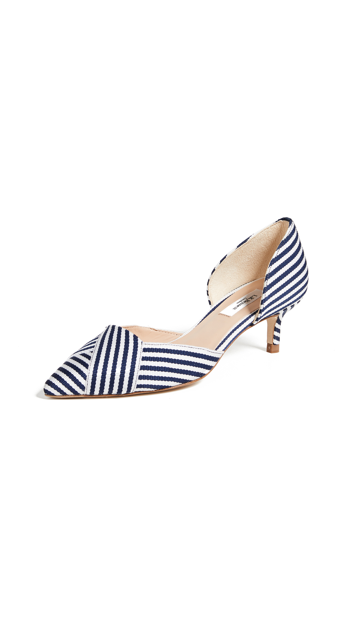 L.K. Bennett Steph dOrsay Pumps - Navy/White