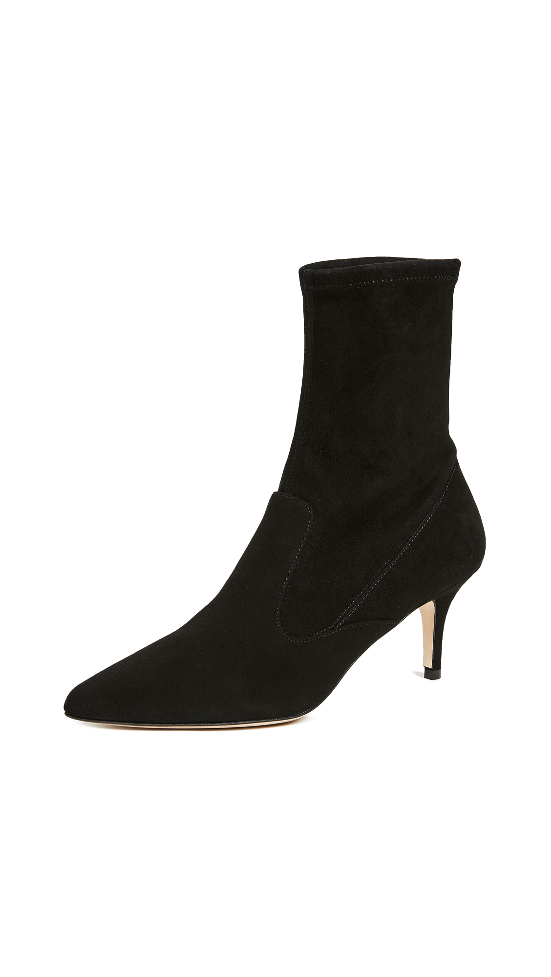 L.K. Bennett Lou Stretch Ankle Boots - Black