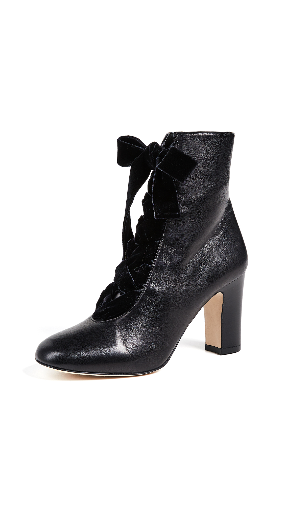 L.K. Bennett Maxine Lace Up Ankle Boots - Black