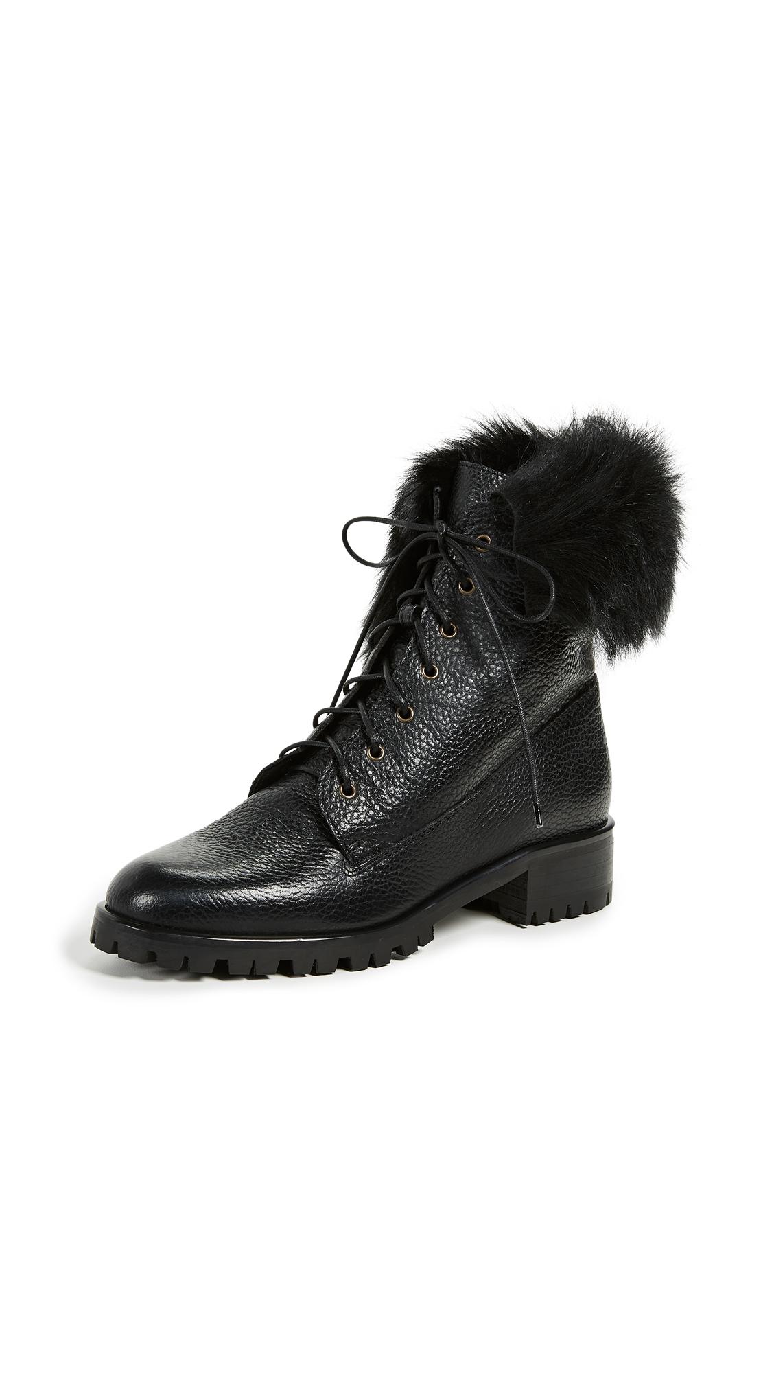 L.K. Bennett Delli Combat Boots - Black