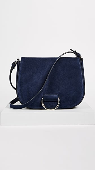 Little Liffner D Saddle Medium Bag - Navy