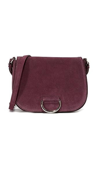 Little Liffner D Saddle Medium Bag - Burgundy