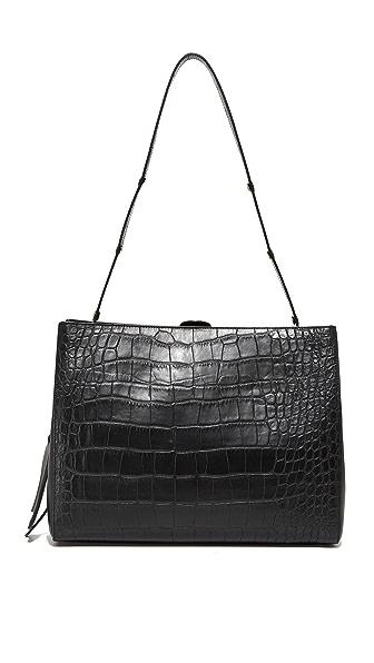 Little Liffner Croc Shopper Bag - Black