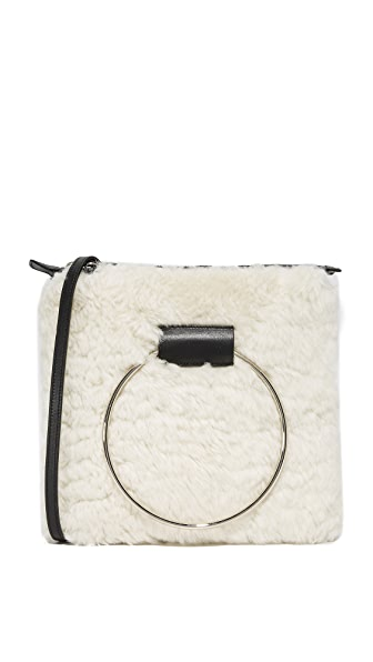 Little Liffner Square Ring Tote In Cream