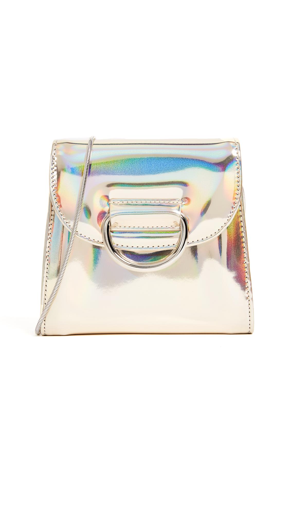 Little Liffner Tiny Box D Cross Body Bag - Platinum