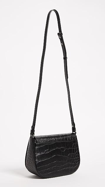 Little Liffner D Saddle Croc Bag