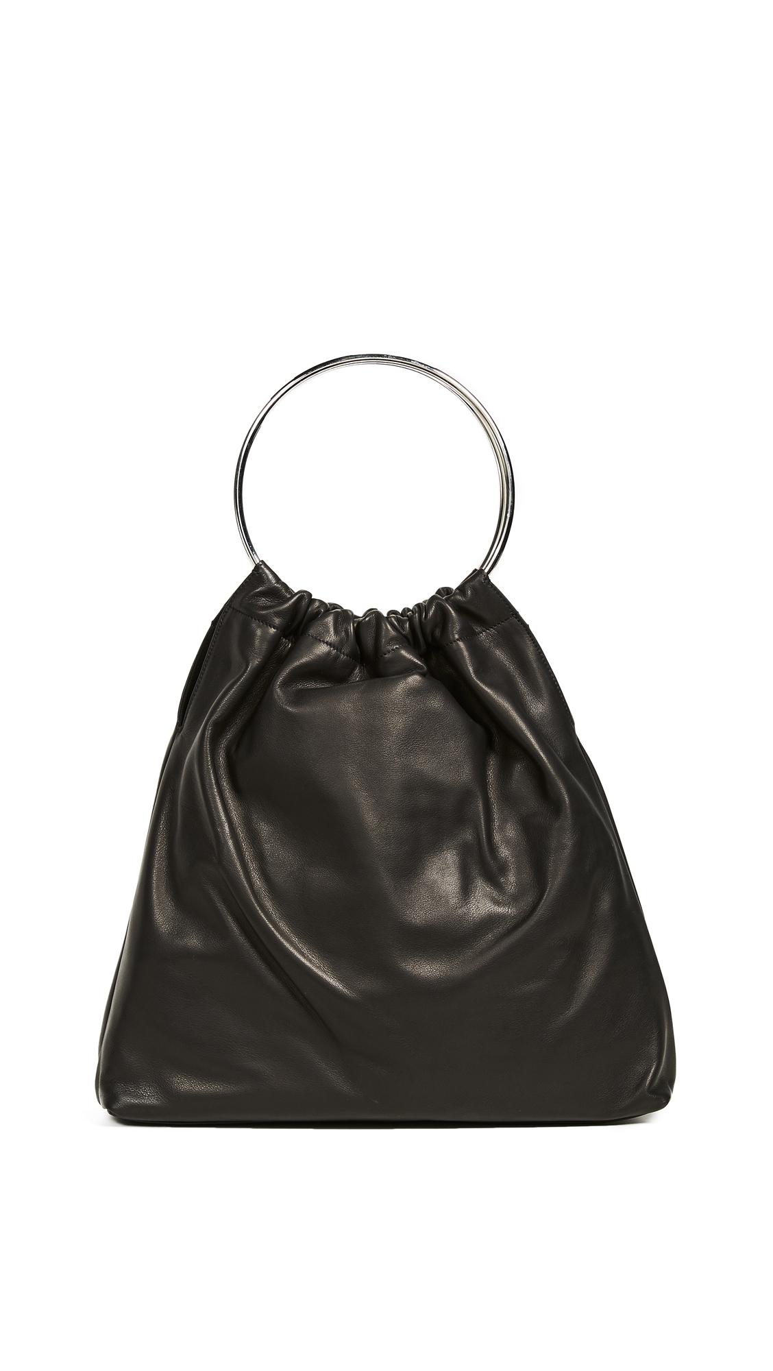 LITTLE LIFFNER Ring Purse in Black