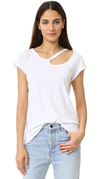 LNA Ripped Neck Tee - White