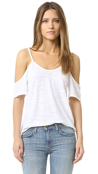 Lna Off Shoulder Tee - White