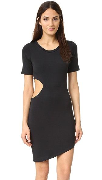 LNA Платье-футболка с вырезами