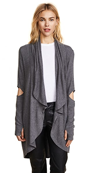 LNA Open Elbow Cardigan In Marengo