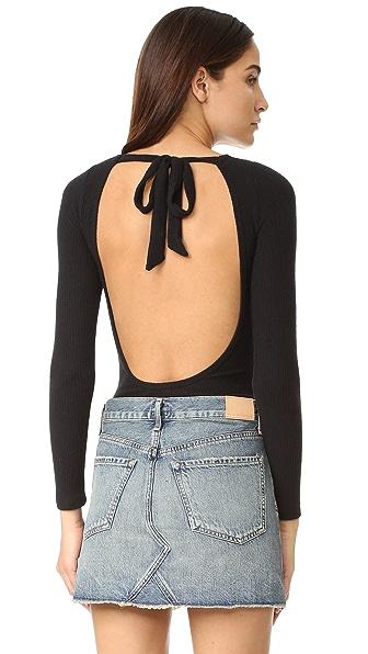 LNA Tie Back Bodysuit - Black