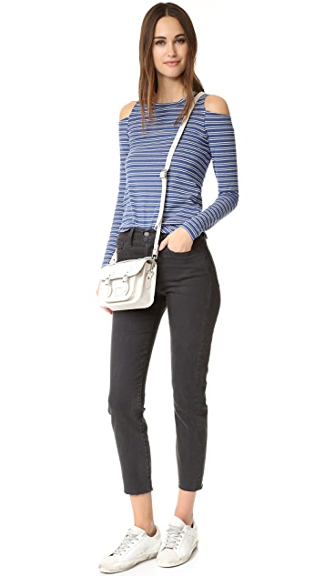 LNA Striped Ashley Jane Long Sleeve Top