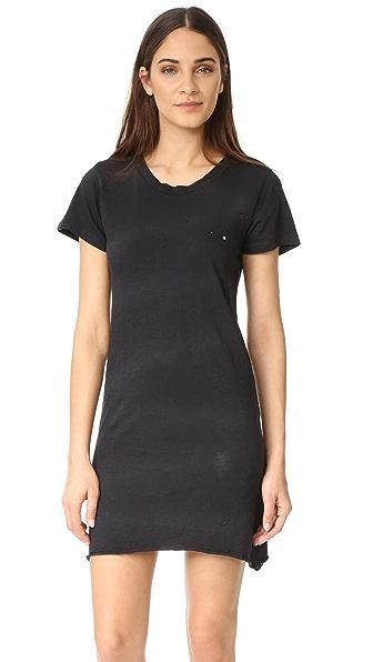 LNA Платье-футболка с эффектом поношенности