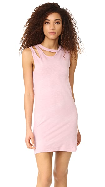 LNA Double Tank Dress - Rose Potassium