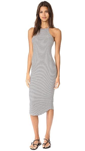 LNA Square Bib Dress - Grey/Black