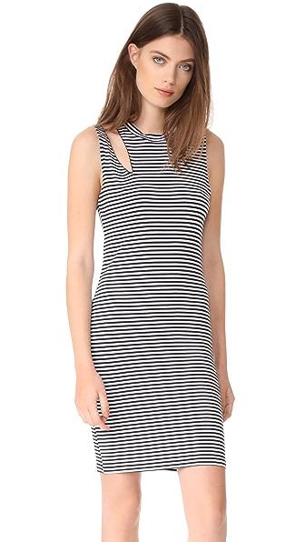 LNA Stripe Slice Tank Dress