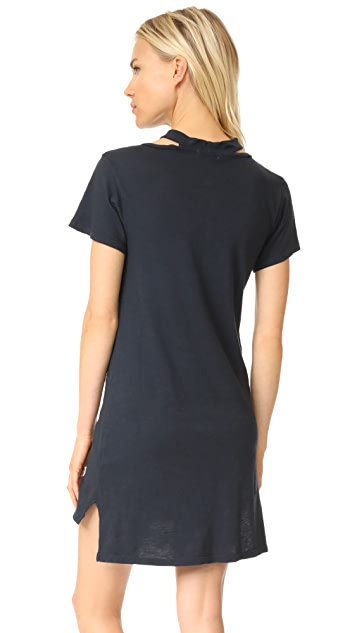 LNA Choker Tee Dress