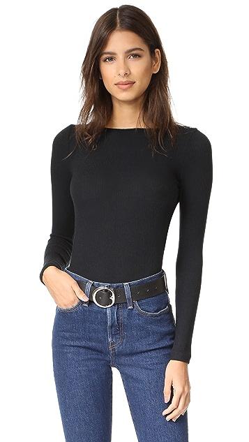 LNA Tie Back Thong Bodysuit