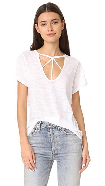 LNA Willow Strappy Tee In White