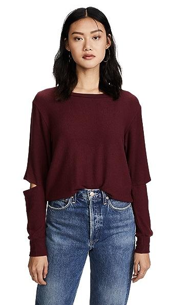 LNA Brushed Odeon Sweatshirt In Windsor Wine