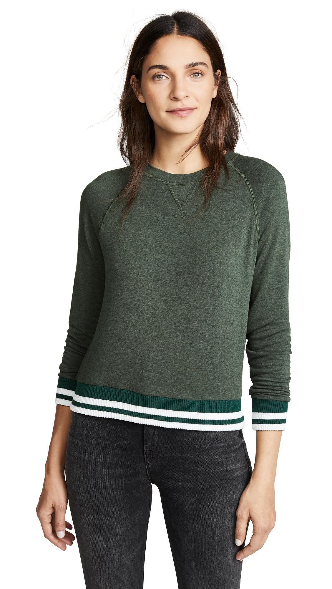 LNA Roller Coaster Sweatshirt In Heather Olive
