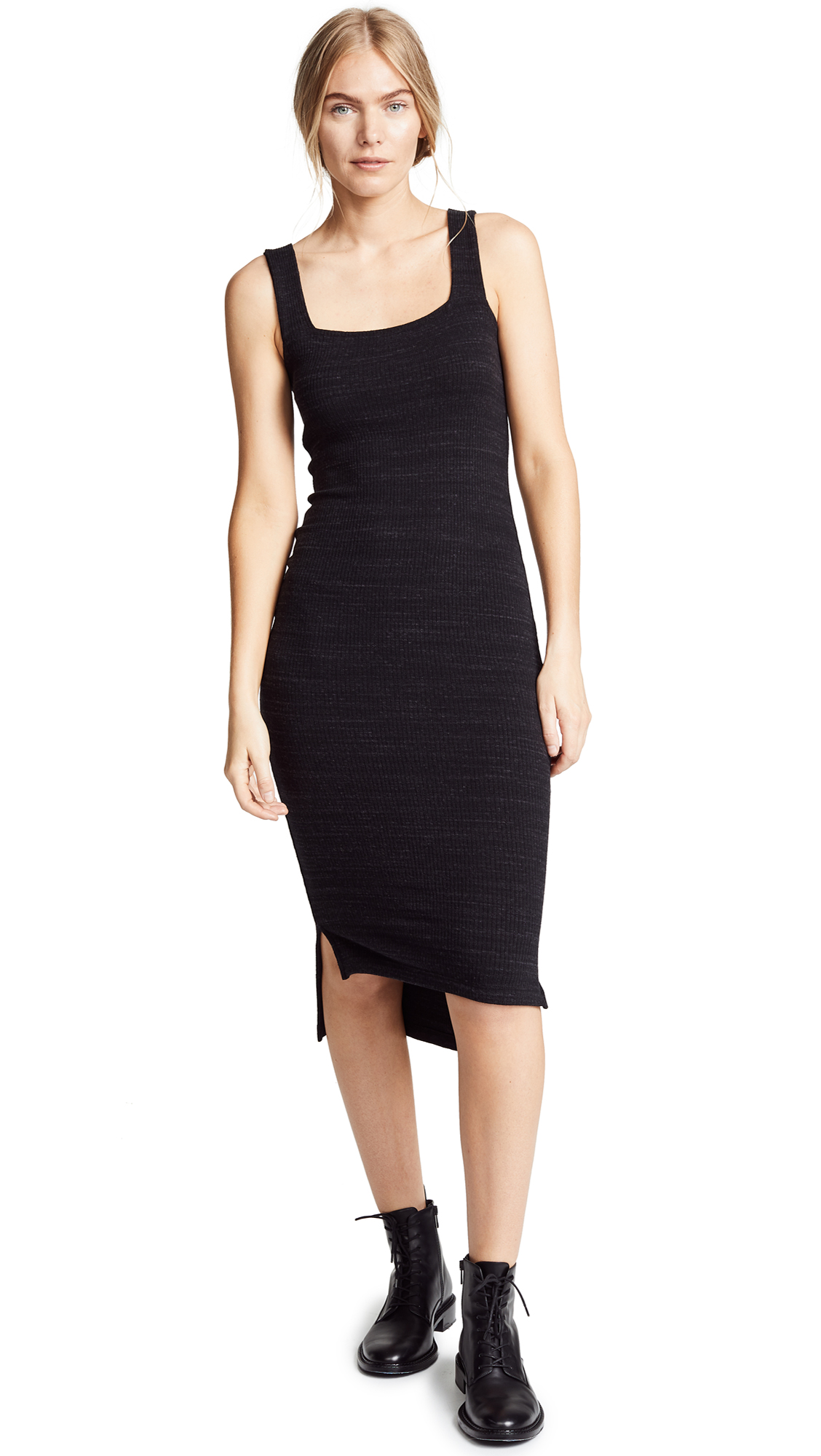 LNA Julia Ribbed Knit Dress