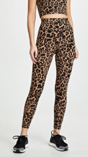LNA Leopard Zipper Leggings