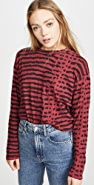LNA Abstract Animal Relaxed Long Sleeve