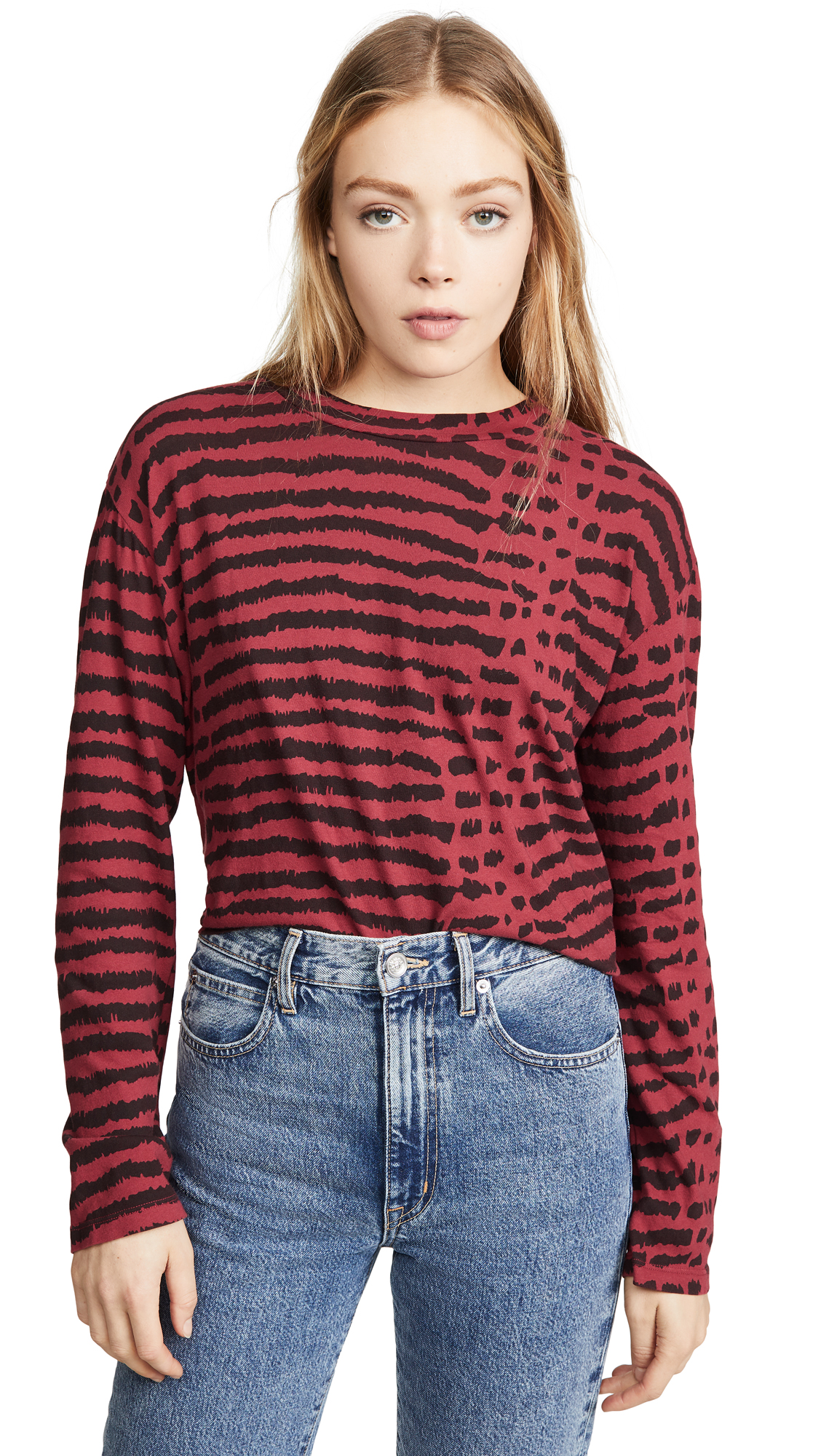 Buy LNA online - photo of LNA Abstract Animal Relaxed Long Sleeve