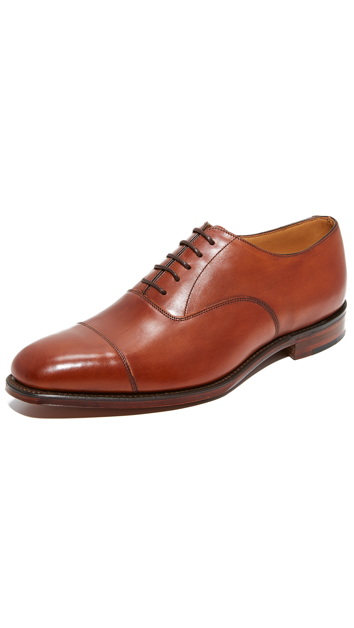 LOAKE 1880 Aldwych Cap Toe Oxfords in Mahogany