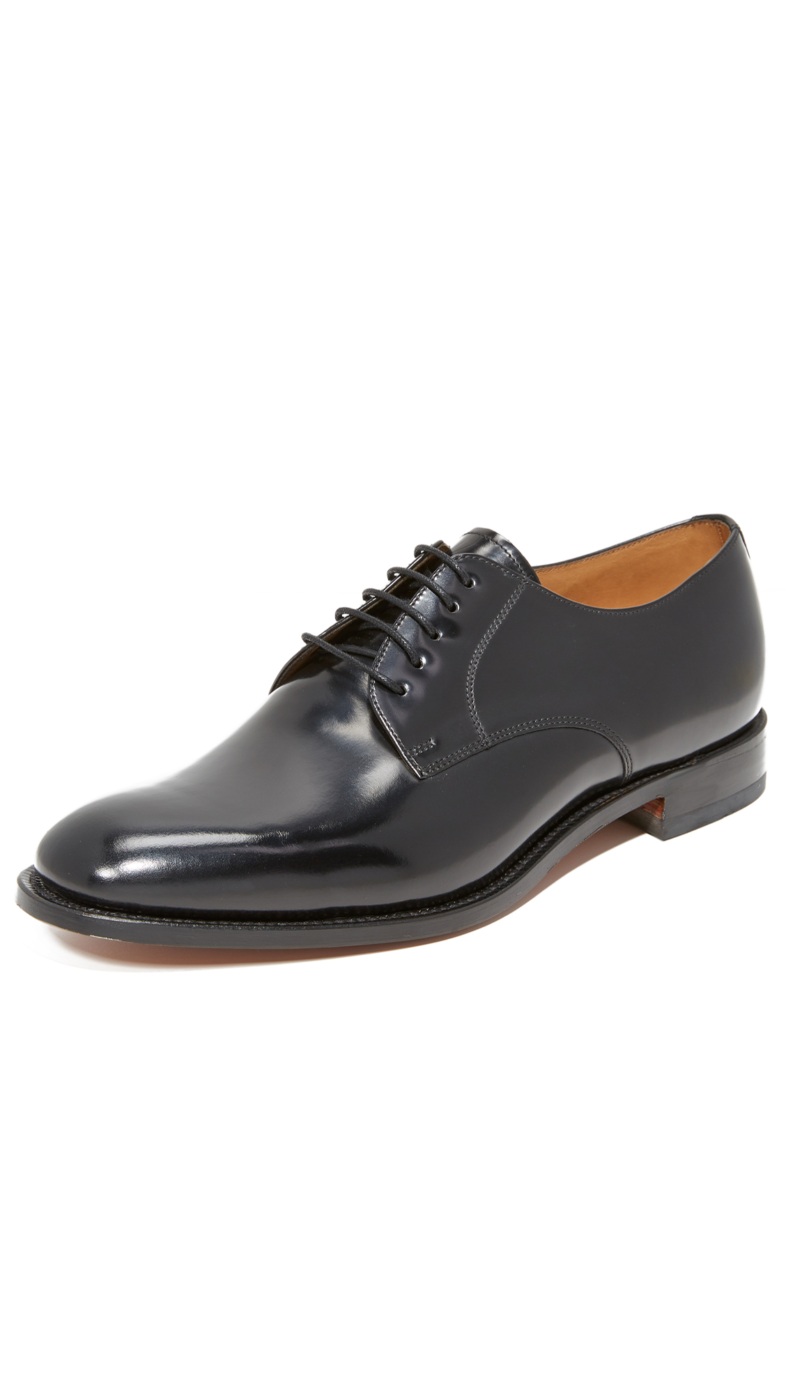 Loake L1 Polished Plain Toe Oxfords