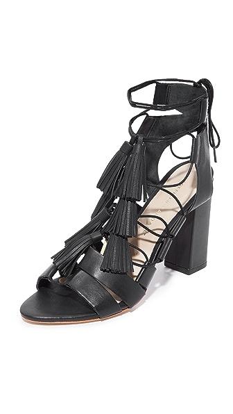 Loeffler Randall Luz Tassel Sandals - Black/Black
